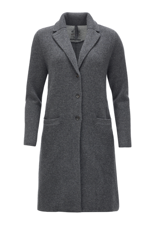 Damen Coat doubleface cooked HS1076 , black grey, XL