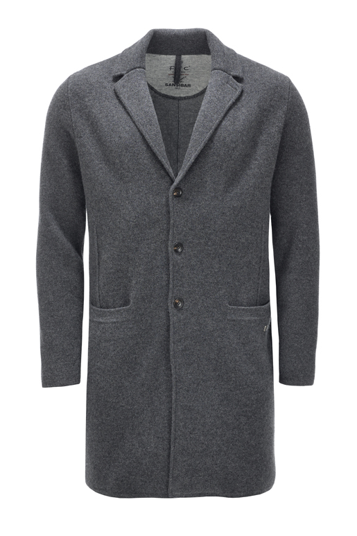 Herren Coat doubleface cooked HS2069 , midnight blue, M