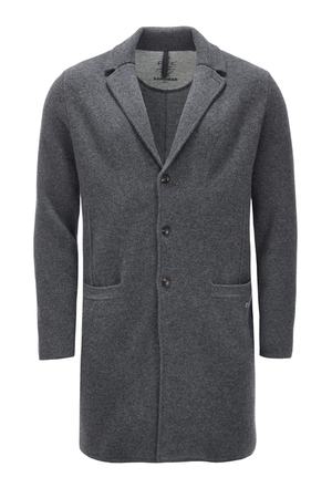 Herren Coat doubleface cooked HS2069 , black grey, XXXXL