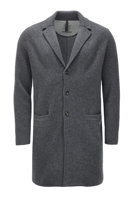 Herren Coat doubleface cooked HS2069 , black grey, S
