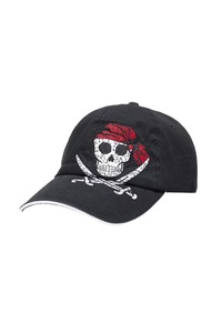 Kids Cap SKULL , pink, one size