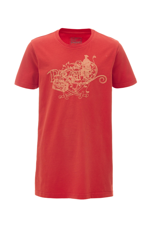 Kinder T-Shirt PIRATE , red, 152/158