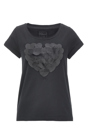 Damen T-Shirt HEART II , black, L