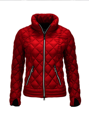 Damen Light Daunenjacke SPORTY , red, XXXL