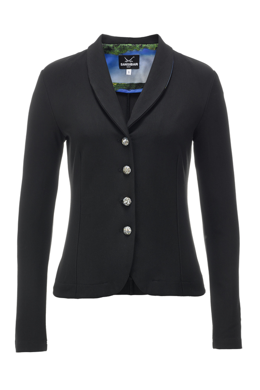 Damen Blazer Stretch DÜNEN , black, XS