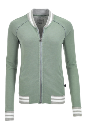 Damen Sweatjacke DOUBLE FACE , reed, L