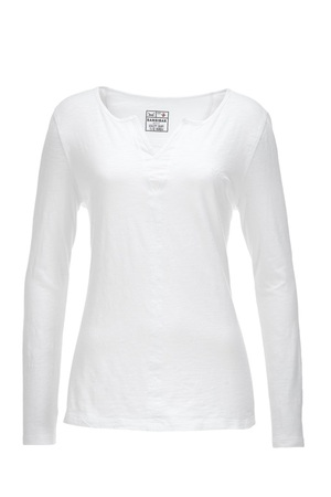 Damen Longsleeve DOUBLE V , white, XXL