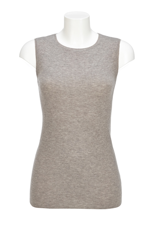 Damen Top Art. 924 , Taupemelange, XXL