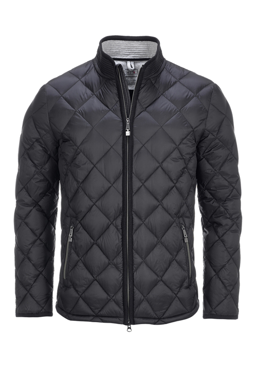 Herren Light Down Steppjacke , black, XS