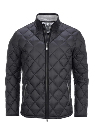 Herren Light Down Steppjacke , black, M