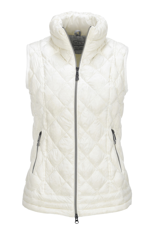 Damen Light Daunenweste SPORTY , white, XXXS