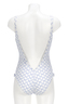Damen Badeanzug DONNA , white/ light blue, S