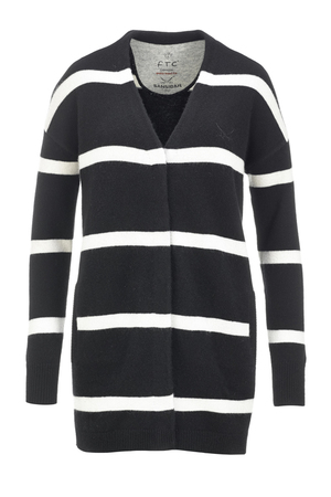 FTC Damen Strickjacke STRIPES 1089 , black, M