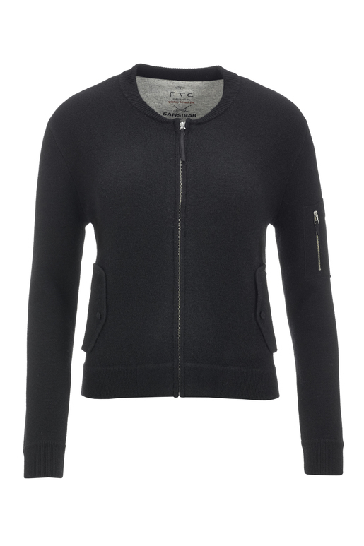 FTC Damen Strickblouson 1090 , black, XXXL