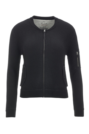 FTC Damen Strickblouson 1090 , black, M