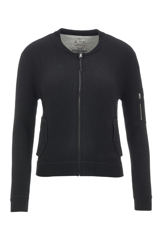 FTC Damen Strickblouson 1090 , black, XXL