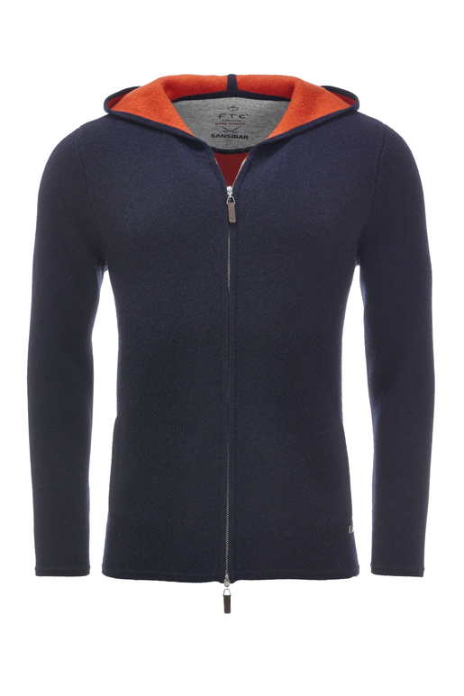 FTC Herren Kapuzenjacke doubleface 2094 , midnight blue, XL