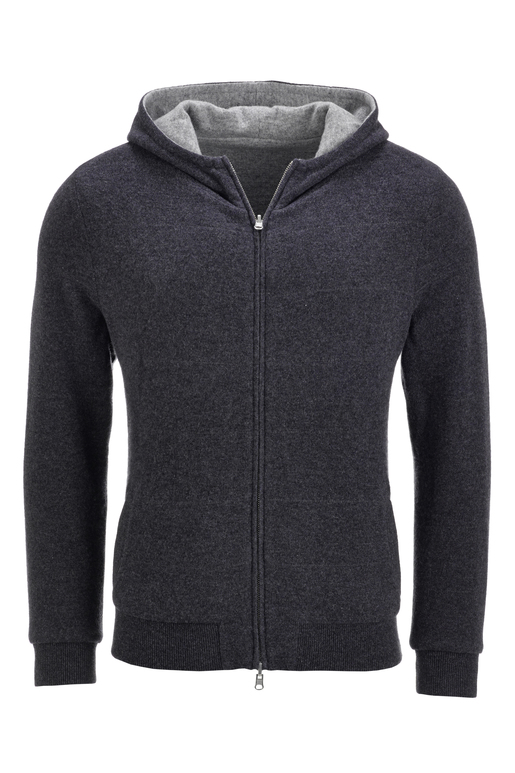 FTC Herren Wendejacke LIGHT , anthramelange, L
