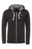 Herren Sweatjacke CLEAN , black, XS