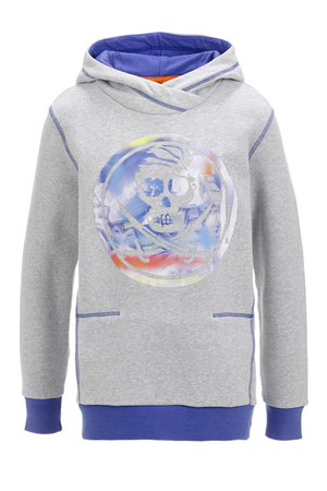 Kinder Hoody PIRATE , silvermelange, 104/110