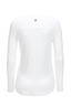 Damen Longsleeve SHEER , white, XXS