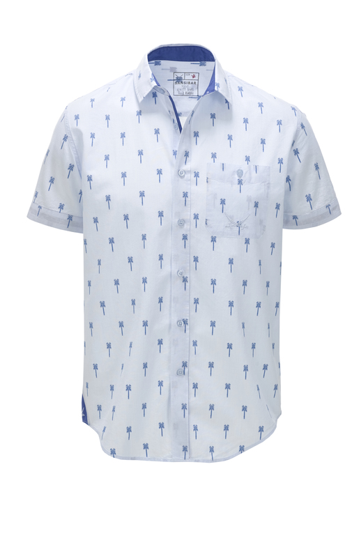 Herren Hemd Palm Tree , lightblue, S