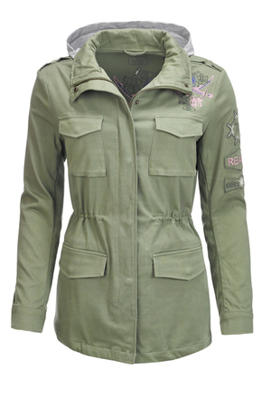 Damen Army Jacke , reed, M
