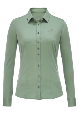 Damen Bluse INTERLOCK , reed, XS