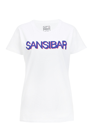 Damen T-Shirt SANSIBAR , white/ green, XL