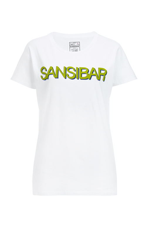 Damen T-Shirt SANSIBAR , white/ green, S