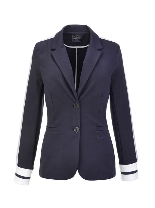 Damen Blazer INTERLOCK , navy, XXS