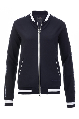 Damen College Jacke INTERLOCK , navy, XS