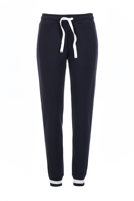 Damen Pants INTERLOCK , navy, S