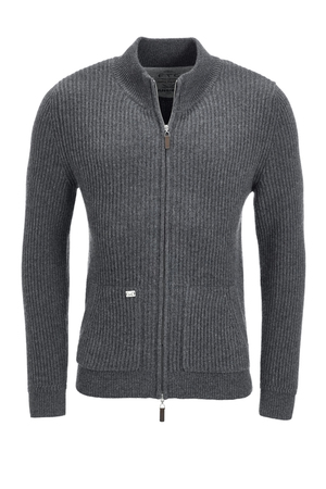 FTC Herren Strickjacke 0520 , anthramelange, M