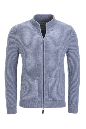 FTC Herren Strickjacke 0520 , denim blue, M