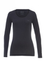Damen Longsleeve STRETCH , black, XS
