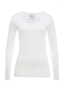 Damen Longsleeve STRETCH , white, XXS