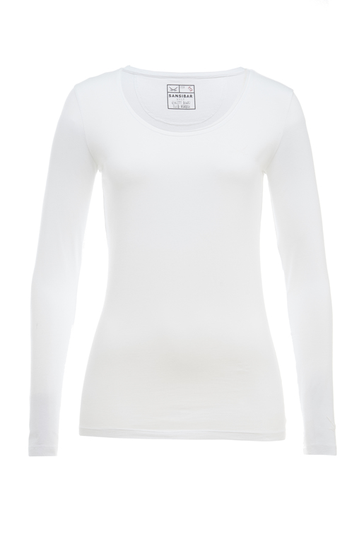 Damen Longsleeve STRETCH , white, S
