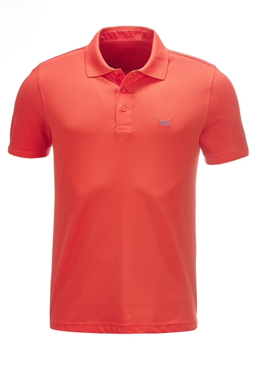 Herren Poloshirt PIMA COTTON kurzarm , red, XS