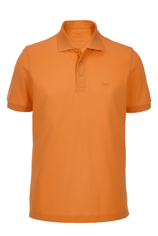 Herren Poloshirt PIMA COTTON kurzarm , ORANGE, XXL
