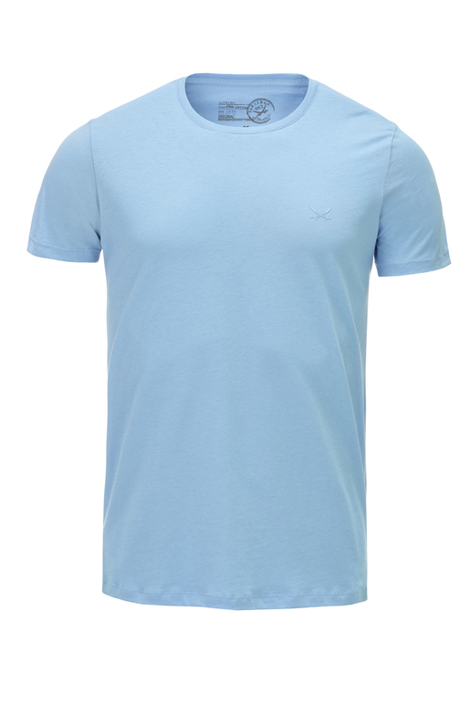 Herren T-Shirt PIMA COTTON Crew-Neck , aqua, XS