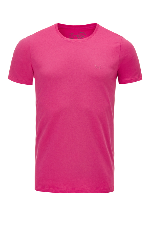 Herren T-Shirt PIMA COTTON Crew-Neck , pink, XS