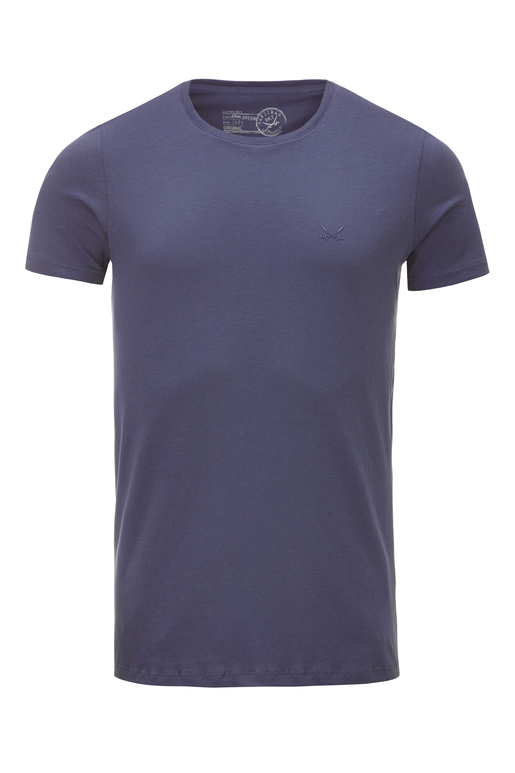 Herren T-Shirt PIMA COTTON Crew-Neck , rauchblau, M