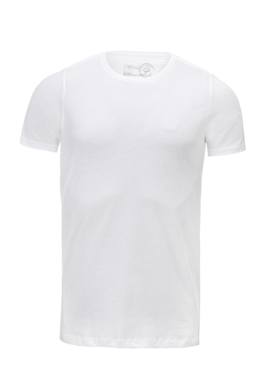 Herren T-Shirt PIMA COTTON Crew-Neck , white, S