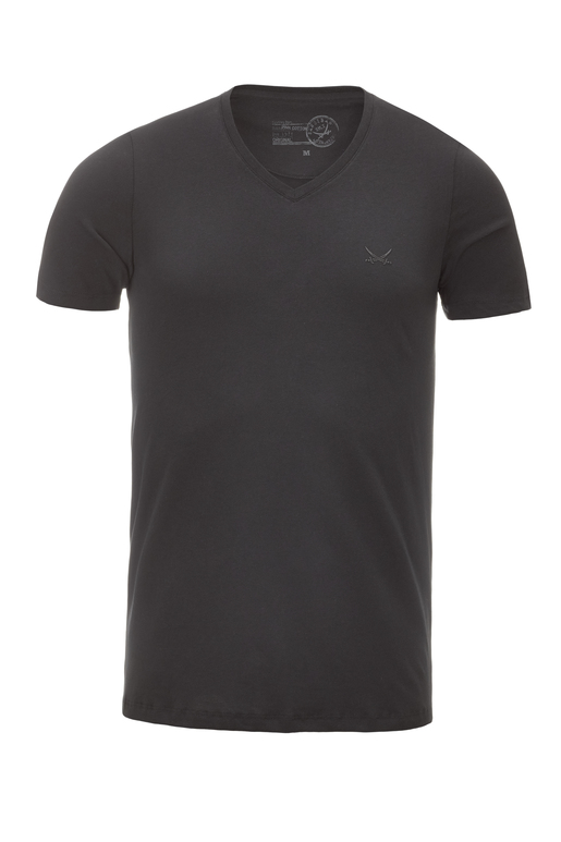 Herren T-Shirt PIMA COTTON V-Neck , black, XXXXL