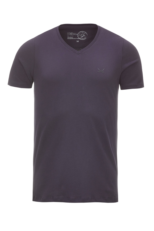 Herren T-Shirt PIMA COTTON V-Neck , navy, XXXXL