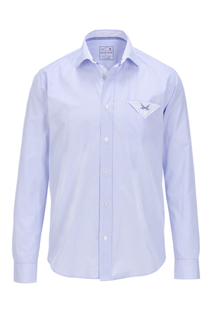 Herren Hemd OLE , white/ light blue, M