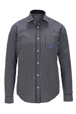 Herren Hemd CHECK , black/ white, XS