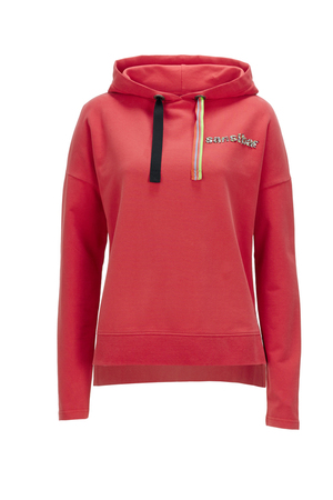Damen Hoody SHORT , red, S