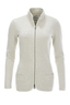 Damen Sweatjacket Stand up Collar , sandmelange, XS